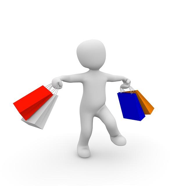 nakupující panáček