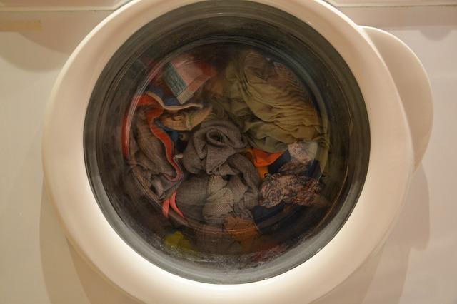 prádlo v pračce